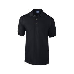 Ultra Cotton galléros piqué póló, fekete