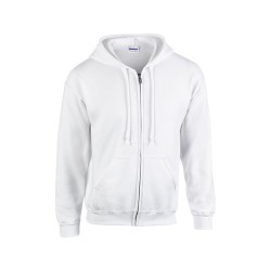 HB Zip Hooded pulóver, fehér