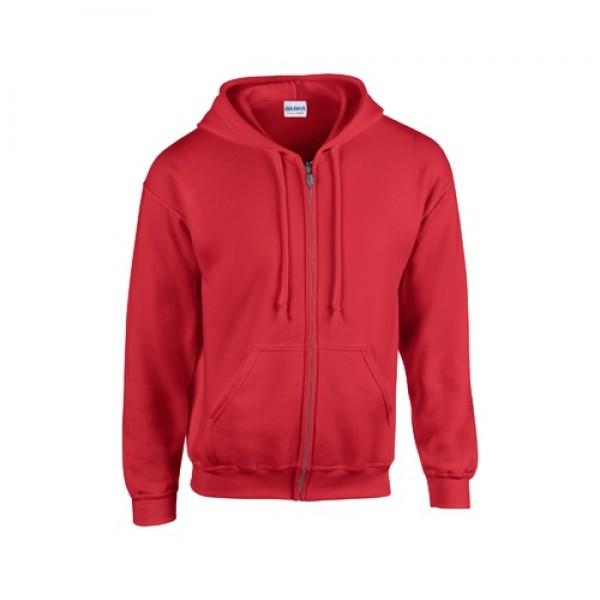 HB Zip Hooded pulóver, piros
