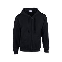 HB Zip Hooded pulóver, fekete