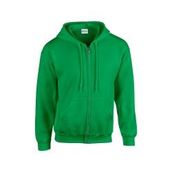HB Zip Hooded pulóver, zöld
