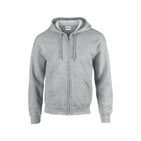 HB Zip Hooded pulóver, szürke