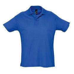Summer II galléros piqué póló, kék