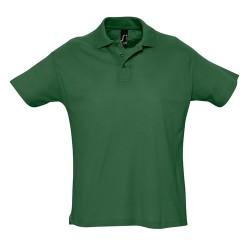 Summer II galléros piqué póló, zöld
