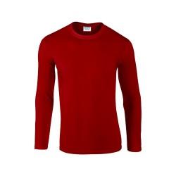 Softstyle Long Sleeve hosszú ujjú póló, piros