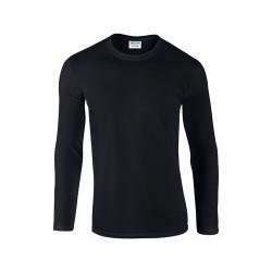 Softstyle Long Sleeve hosszú ujjú póló, fekete
