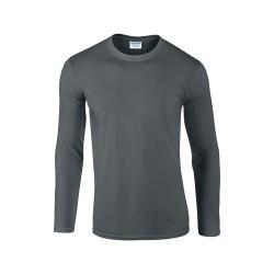 Softstyle Long Sleeve hosszú ujjú póló, szürke