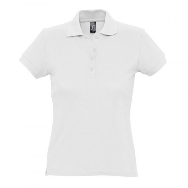 Passion galléros női póló, fehér