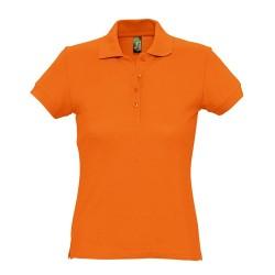 Passion galléros női póló, narancssárga