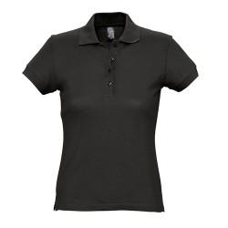 Passion galléros női póló, fekete