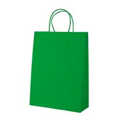 Mall papírtáska, zöld