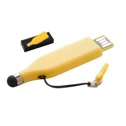Stylus 4GB USB memória érintőképernyős funkcióval, sárga