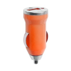 Hikal USB töltő autóba, narancssárga