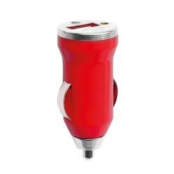 Hikal USB töltő autóba, piros