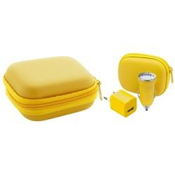 Canox USB töltő szett, sárga