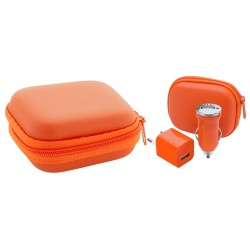 Canox USB töltő szett, narancssárga