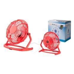 Miclox asztali mini ventilátor, piros