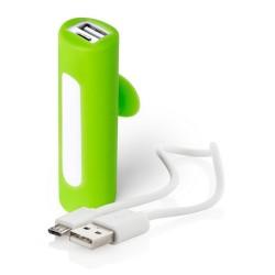 Khatim USB power bank, lime zöld