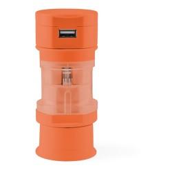Tribox utazó adapter, narancssárga