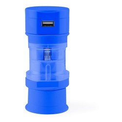 Tribox utazó adapter, kék