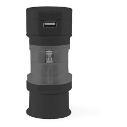 Tribox utazó adapter, fekete
