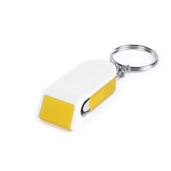 Satari mobiltelefon tartó kulcstartó, sárga