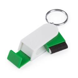 Satari mobiltelefon tartó kulcstartó, zöld