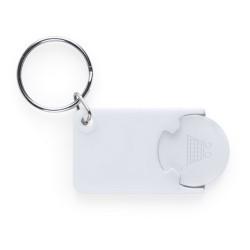Zabax kulcstartós bevásárlókocsi érme, fehér