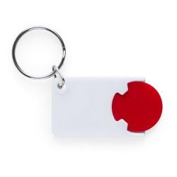 Zabax kulcstartós bevásárlókocsi érme, piros