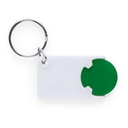 Zabax kulcstartós bevásárlókocsi érme, zöld