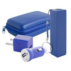 Rebex USB töltő és power bank szett, kék