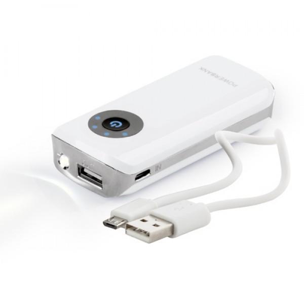 Harubax USB power bank, fehér