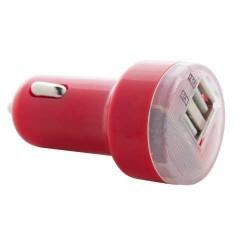 Denom USB autós töltő, piros