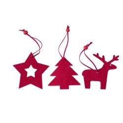 Stuck karácsonyfa dekoráció szett, piros