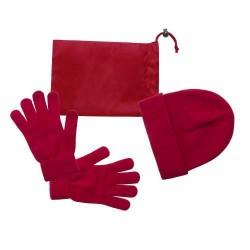 Duvel sapka és kesztyű szett, piros
