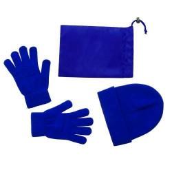 Duvel sapka és kesztyű szett, kék