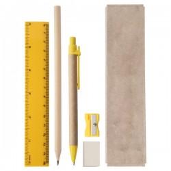 Gabon írószer készlet , sárga