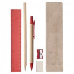 Gabon írószer készlet , piros