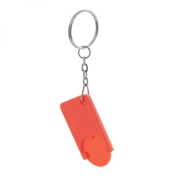 Beka kulcstartós bevásárlókocsi érme, piros