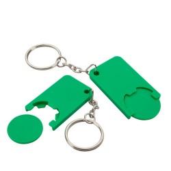 Beka kulcstartós bevásárlókocsi érme, zöld