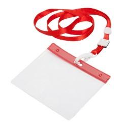 Maes passztartó nyakpánttal, piros