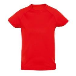 Tecnic Plus K gyermek póló, piros