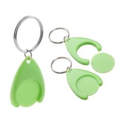 Nelly kulcstartós bevásárlókocsi érme, zöld