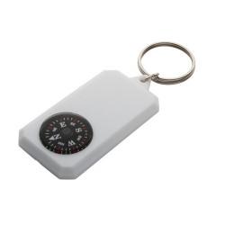 Magellan kulcstartó iránytűvel, fehér