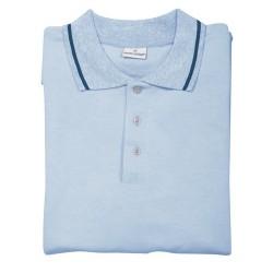 Collier galléros póló, kék