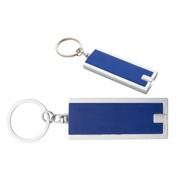 Industrial ledes kulcstartó, kék