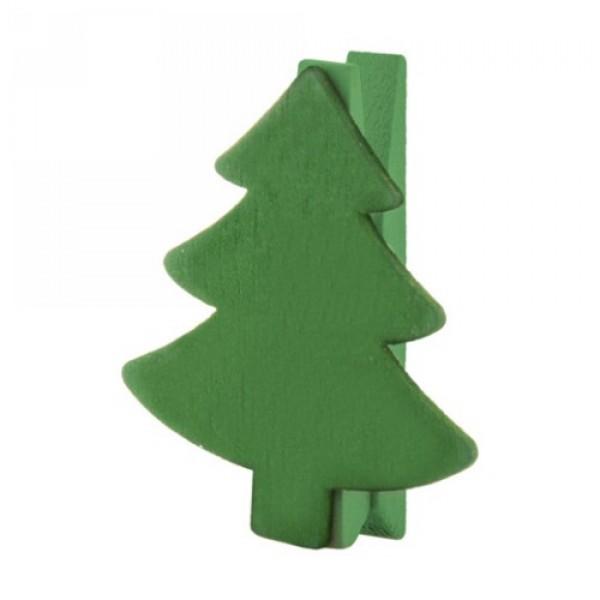 Hantala karácsonyi csipesz, karácsonyfa, zöld