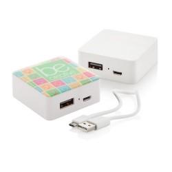 Sqenergy USB power bank, fehér