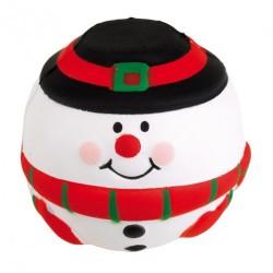 Snowman stresszoldó labda, piros/fehér