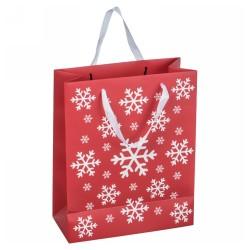 Nagy karácsonyi papírtáska, piros